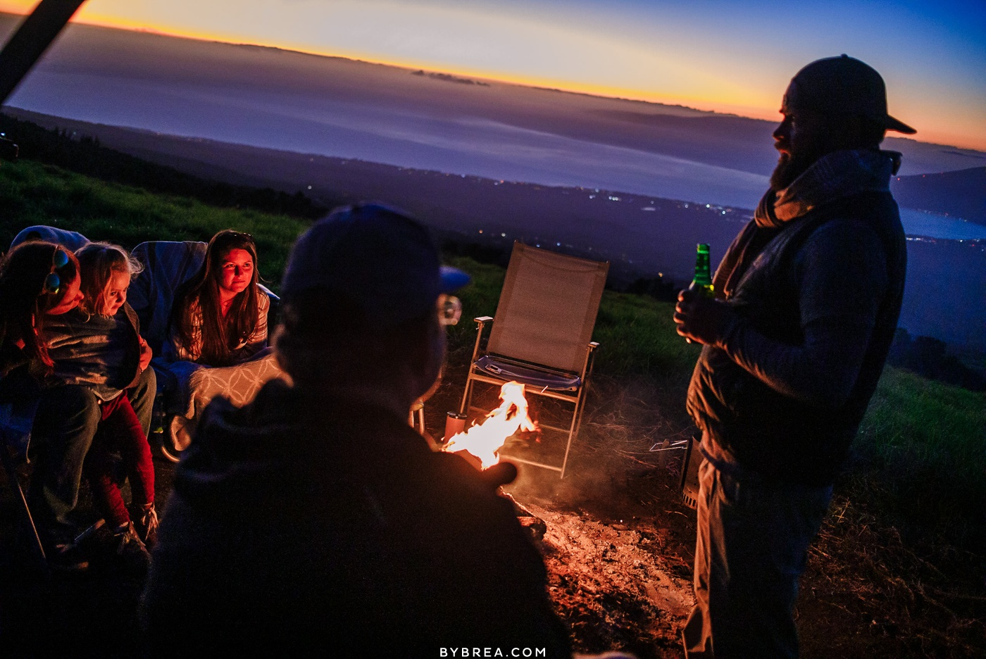 Sunset cookout on Haleakala during Maui family photography session